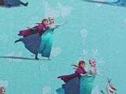 RESTSTÜCK 95 cm Jersey Frozen Elsa, aqua