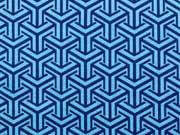 BW grafisches Pfeilmuster, dunkelblau/türkis