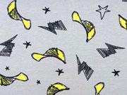 Jersey Baseball Caps & Sterne grau / gelb