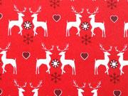 Weihnachtshirsche mit Herzen - rot
