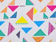 Jersey bunte Dreiecke,  bunt cremeweiss