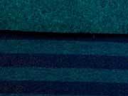 RESTSTÜCK 31 cm angerauter Sweat Streifen dunkelblau petrol