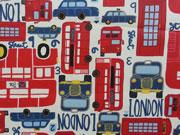 Reststück 72cm beschichtete Baumwolle London