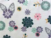 Jerseystoff Blumen Little Darling, hellgrau