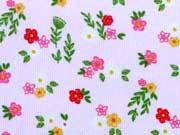 Feincord Blumen & Blätter, zartrosa