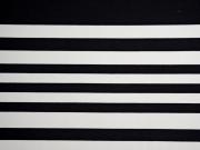 Jersey Punto di Roma Heavy Stretchjersey Streifen,weiß schwarz