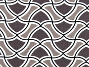 Leinen Kelch-Muster, taupe/helltaupe