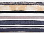 Viskose Jersey gemalte Streifen, taupe grau
