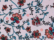 RESTSTÜCK 65 cm Viskosejersey Blümchen,rosa