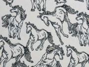 Chiffon Pferde Milliblus Wild Things, weiss