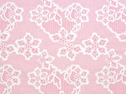 RESTSTÜCK 64 cm Jersey Lace Muster, rosa