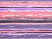 Jersey gemalte Streifen, apricot lila