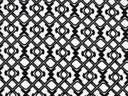 Baumwollsatin grafisches Muster, schwarz auf weiß