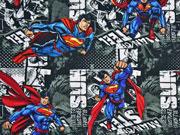 Jersey Little Darling Superman, grau/blau