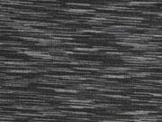 RESTSTÜCK 89 cm Funktionsjersey gestrichelt grau