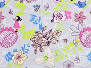 RESTSTÜCK 16 cm Softshell Japanese Style, pink hellgrau