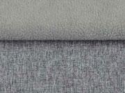 RESTSTÜCK 31 cm melierter Softshell, grau