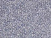 lockerer French Terry, washed jeansblau melange