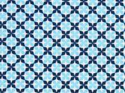 Baumwolle Little Darling Kreuzblume, hellblau dunkelblau