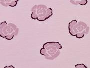 Viskosejersey  Rosen, altrosa/rosa