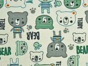 RESTSTÜCK 42 cm Jersey Teddybären, beige grün