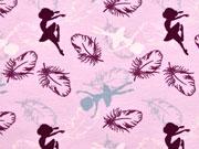 Jersey Ballerina & Federn, rosa