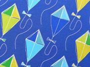 Blaubeerstern Jersey Drachenflug groß, mittelblau