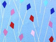 Jersey Drachenflug klein Blaubeerstern, eisblau