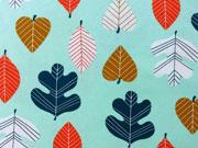 RESTSTÜCK 99 cm Jersey Blätter, mint