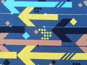 Lillestoff Bio-Jersey Arrows, dunkelblau/bunt