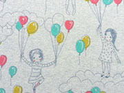 Lillestoff Schwerelos Luftballons, grau meliert
