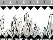 Lillestoff Bio-Sweat Navajo, weiß/schwarz