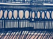 RESTSTÜCK 79 cm Jersey Ink Lillestoff, blau rosa