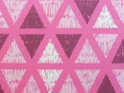RESTSTÜCK 22 cm Sweat Dreiecke Rauten - rosa