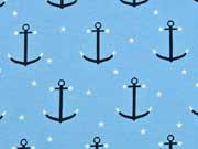 Jersey Anker & Sterne, hellblau