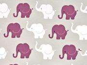 Jersey Elefanten, bordeaux hellgrau