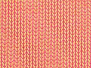 RESTSTÜCK 70 cm Hamburger Liebe Melange Knit Knit, orange pink