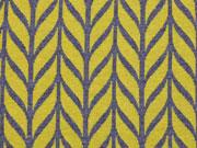 HH Liebe Maxi Knit Blätter, senf/carbon