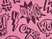 Jacquard OMG  Hamburger Liebe, rosa