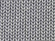 Jacquard Big Knit Knit HH Liebe, hellgrau schwarz