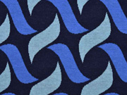 Bio-Jacquard Botanical Plait Hamburger Liebe, navy blau