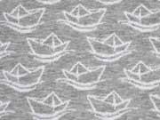 HH Liebe Simply Boats Jacquard, weiss grau melange