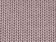 RESTSTÜCK 102cm HH Liebe Hipster Square Knit Knit, beige