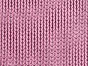 RESTSTÜCK 46cm Hamburger Liebe Knit Knit, altrosa