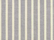 C.Pauli Baumwolle (Bio) Canvas Streifen, ecrue/taupe