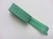 2 m Schrägband Mini Vichykaro, grasgrün