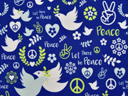 Jersey Love & Peace Lycklig Design, blau