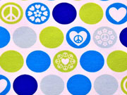 Jersey Dots of Hope Lycklig Design, blau/hellgrün
