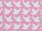 Jersey Peaceful Dove Lycklig Design, rosa
