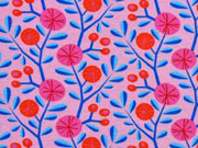 Jersey HH Liebe Bacini Blumen & Zweige, rosa